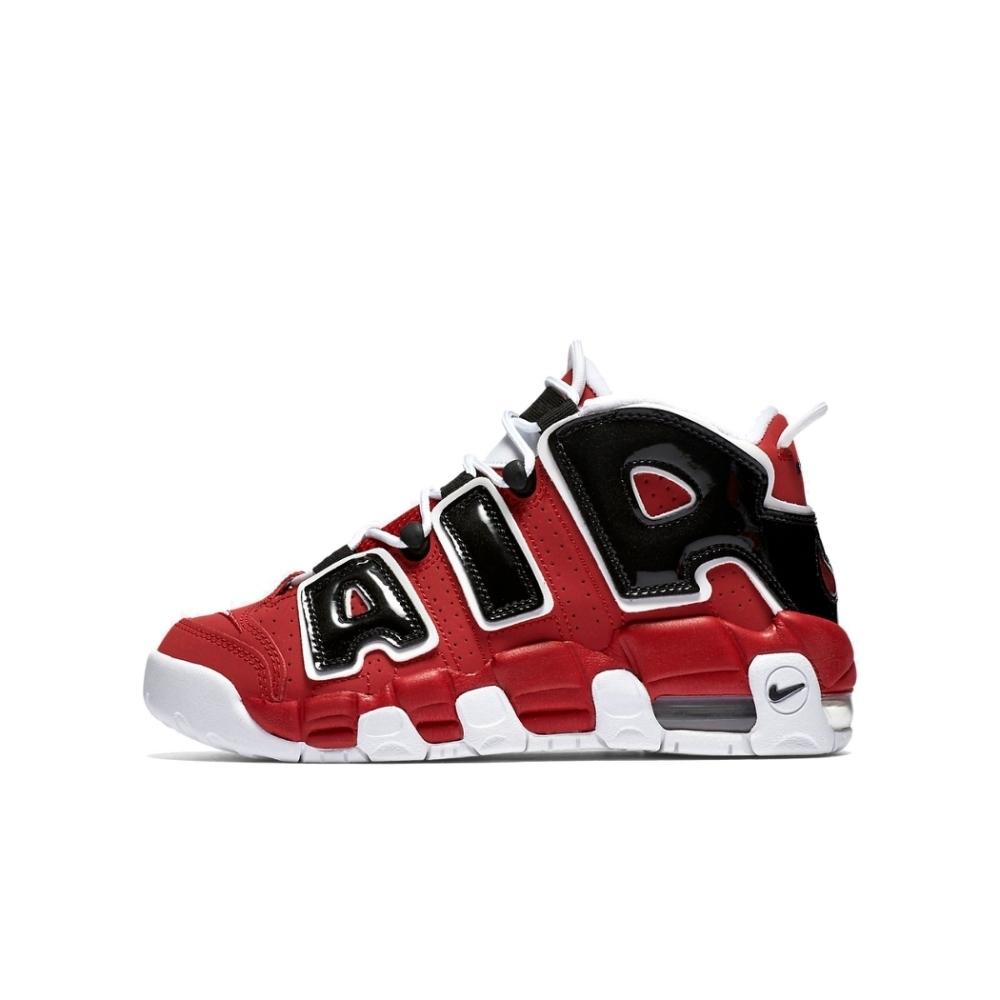 NIKE AIR MORE UPTEMPO (GS)  大童休閒鞋 黑紅-415082600
