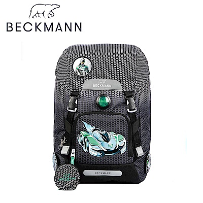 Beckmann-兒童護脊書包22L-黑色賽車