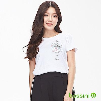 bossini女裝-印花短袖T恤12白
