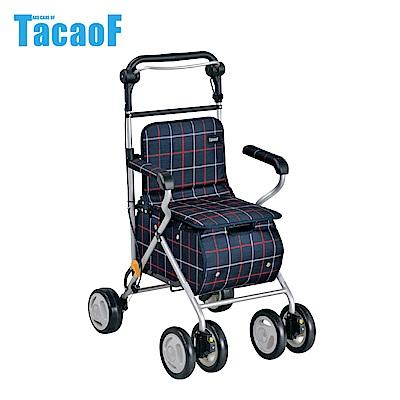日本TacaoF幸和 標準款助步車ST07型-藍底紅白格線