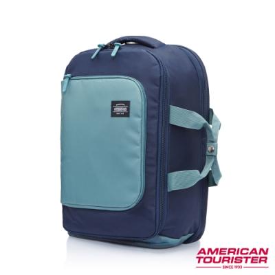 AT美國旅行者 Aston輕旅行可擴充多功能筆電後背包(海軍藍)