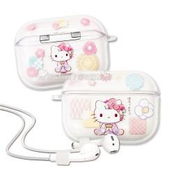 正版授權 Hello Kitty凱蒂貓 AirPods Pro TPU透明彩繪