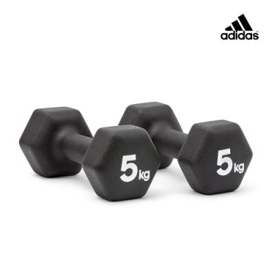 adidas愛迪達 六角訓練啞鈴(5kg)一對