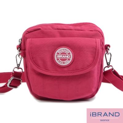 iBrand斜背包 輕盈防潑水隨身小包側斜背包-甜美粉