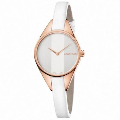 Calvin Klein CK Rebel極簡設計質感皮帶腕錶(K8P236L6)29mm