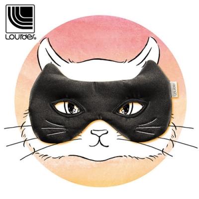 Lourdes貓咪面具溫熱眼罩(黑色)