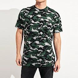 海鷗 Hollister HCO 文字口袋設計短袖T恤-迷彩色