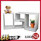 【時時樂限定】LOGIS-俄羅斯方塊桌上架/書架(2入)寬55x深24x高36cm