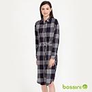 bossini女裝-長版襯衫洋裝02海軍藍