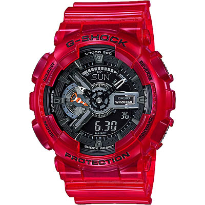 G-SHOCK 海洋雙顯錶-珊瑚紅(GA-110CR-4A)/51mm