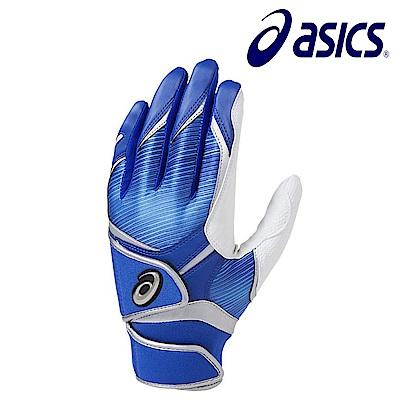 Asics 亞瑟士 打擊手套 一雙 藍白 BEG281-4341