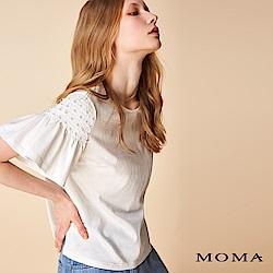 MOMA 鉚釘荷葉袖上衣