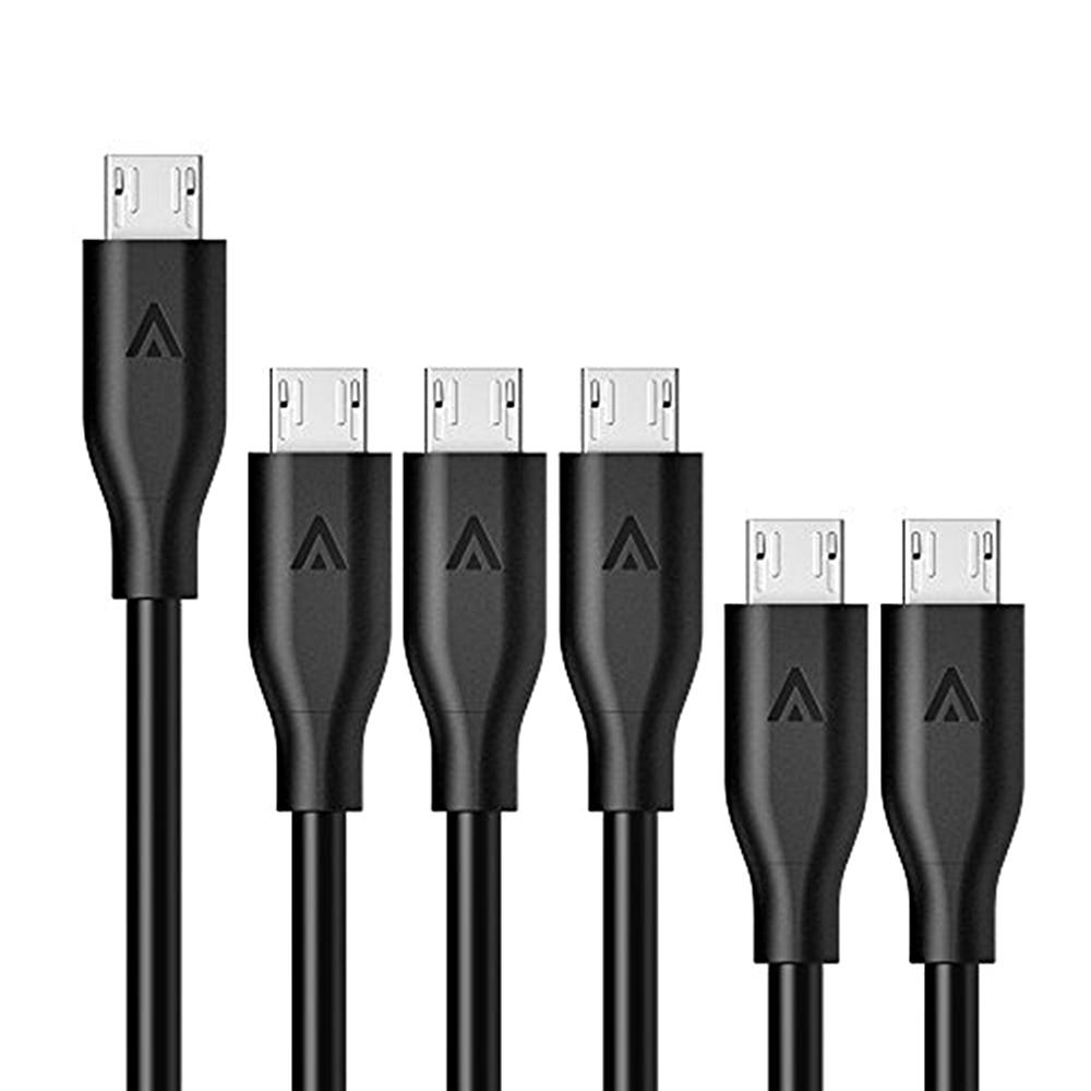 美國Anker傳輸充電線PowerLine Micro USB B8133012(6入組)