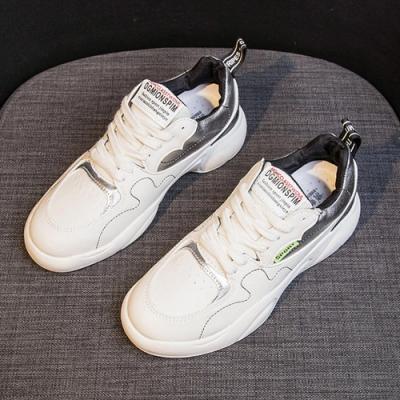 韓國KW美鞋館 運動女孩休閒舒適老爹鞋-白
