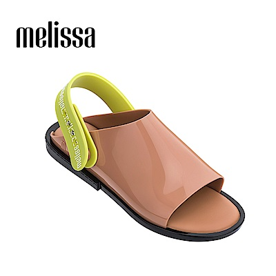 Melissa 經典款撞色平底鞋-卡其色