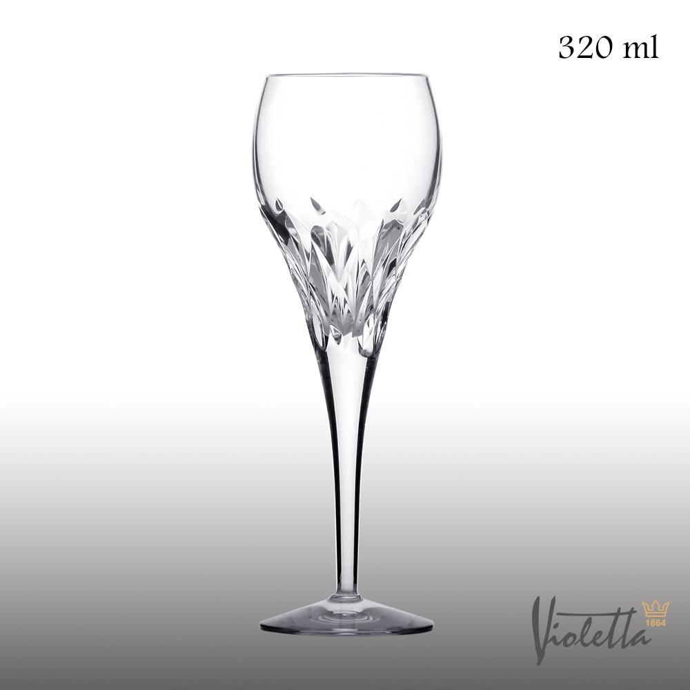 Royal Duke Violetta摩登型鑽石紅酒杯320ml(一體成形水晶杯)