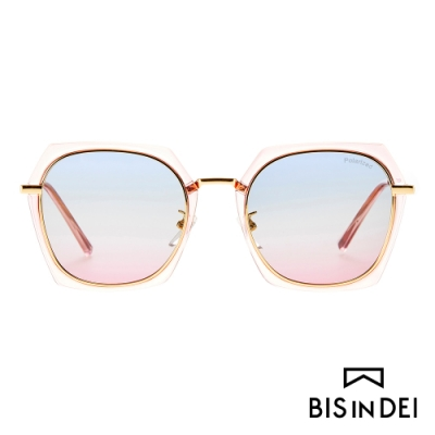 BIS IN DEI 不低調個性多角框太陽眼鏡-粉