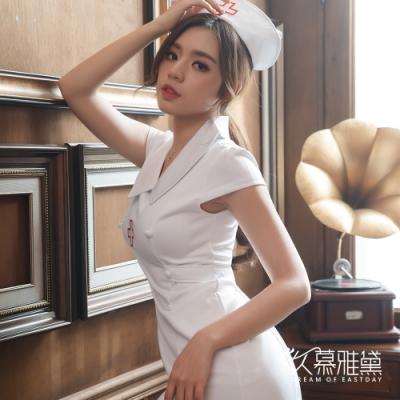角色扮演服 甜蜜天使經典小護士角色扮演服。白色 久慕雅黛