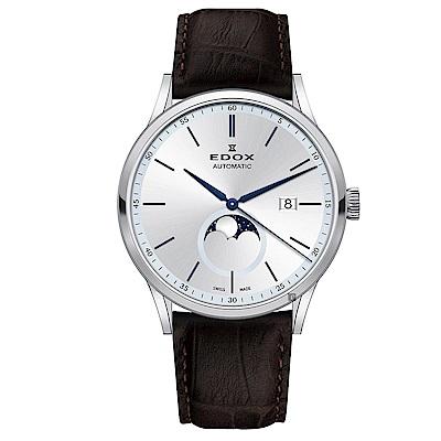 EDOX  Les Vauberts 自動月相日曆機械錶-42mm