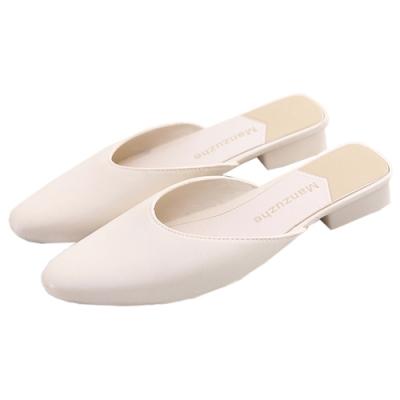 KEITH-WILL時尚鞋館 簡約慵懶風小方頭晴雨可穿穆勒鞋-白