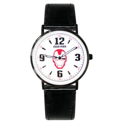 Disney迪士尼 Marvel漫威鋼鐵人超薄鏡面皮帶手錶40mm