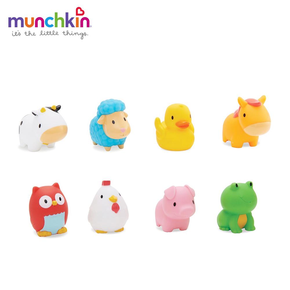 美國 munchkin滿趣健-動物農場噴水洗澡玩具8入