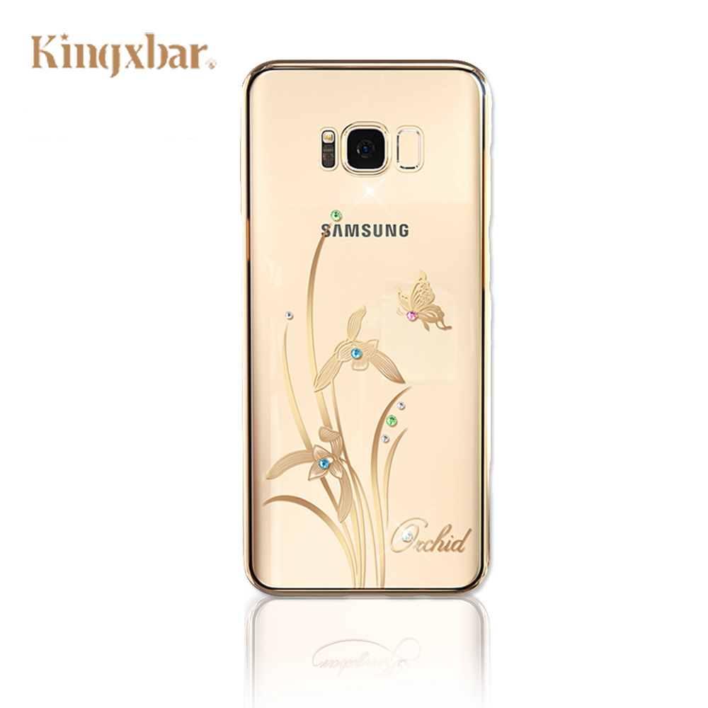 Kingxbar Samsung S8  Plus施華彩鑽 水鑽手機殼-君子蘭