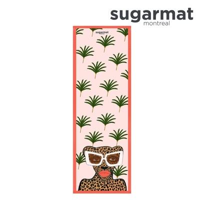 加拿大Sugarmat 麂皮絨天然橡膠瑜珈墊(3.0mm) 時髦美洲豹Kiss & Make Up
