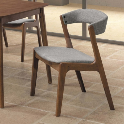 H&D 漢瑞淺胡桃灰布餐椅