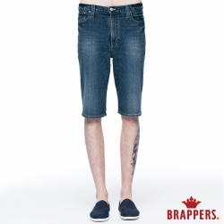 BRAPPERS 男款 HG高腰系列-男用高腰彈性五分短褲-藍