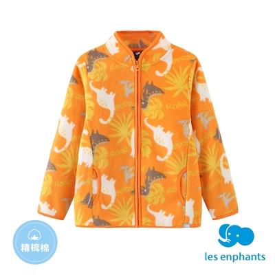 【麗嬰房】EASY輕鬆系列  小童印花外套-橘色(86cm~130cm)