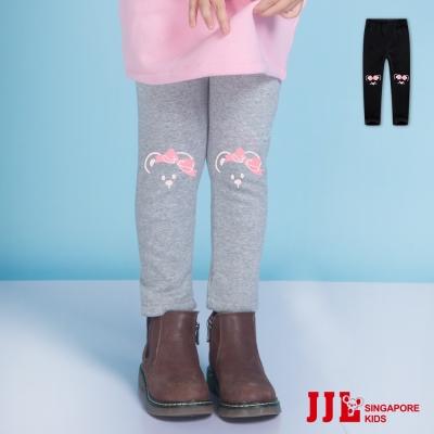 JJLKIDS 可愛花鼠印花內刷毛保暖內搭褲(2色)