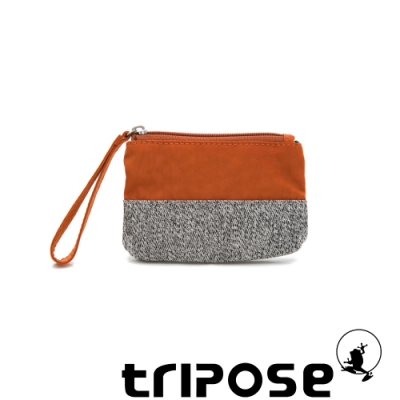 tripose漫遊系列岩紋x微皺尼龍多功能手拎袋(小)橘色