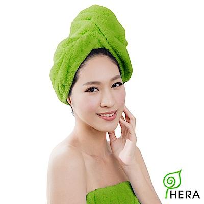 HERA 3M專利瞬吸快乾抗菌超柔纖浴帽-香草綠
