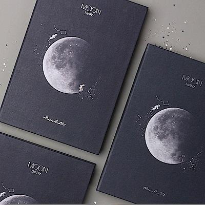 dash&dot Moon diary月亮萬年曆週誌-深夜藍黑