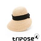 tripose INA 100% Raffia入門款不對稱設計草帽(飾帶-黑)