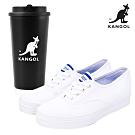 【KANGOL】經典款帆布鞋-共兩款★時時樂限定買就送品牌隨行杯