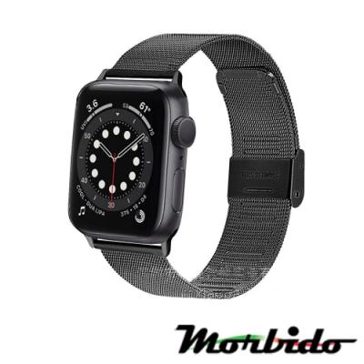 Morbido蒙彼多Apple Watch 6/SE 44mm不鏽鋼編織卡扣式錶帶