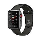 Apple Watch Series 3(GPS+網路) 42mm太空灰鋁金屬錶殼+灰色運動錶帶