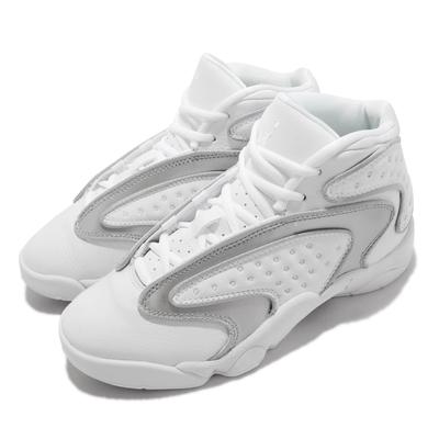 Nike 籃球鞋 Air Jordan OG 女鞋 Pure Money 喬丹 氣墊 皮革 質感 白 銀 CW0907-100