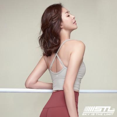 STL Bra Crop Top base 韓國 高度支撐 機能運動內衣 / 短版背心 (含專利胸墊) 象牙白