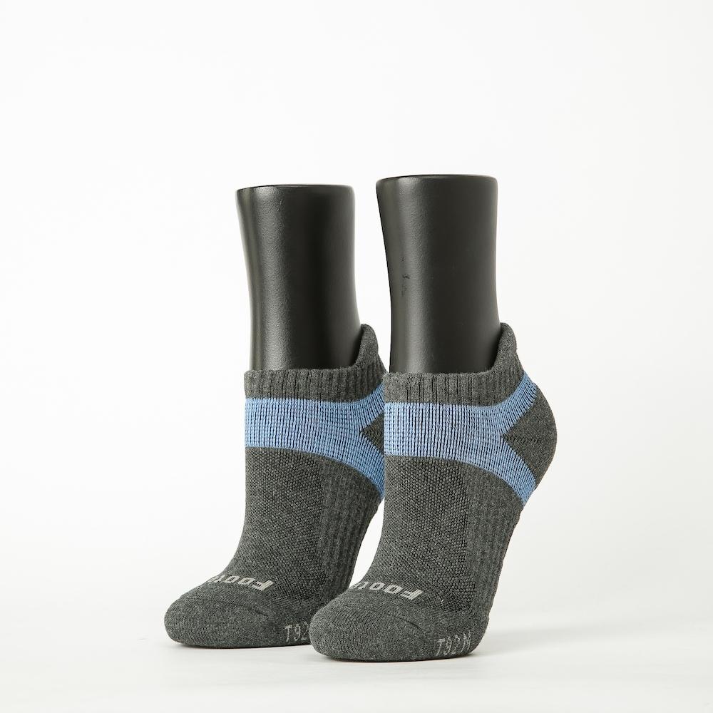 Footer除臭襪-輕壓力足弓船短襪-六雙入(灰*2+粉紅*2+紫*2)