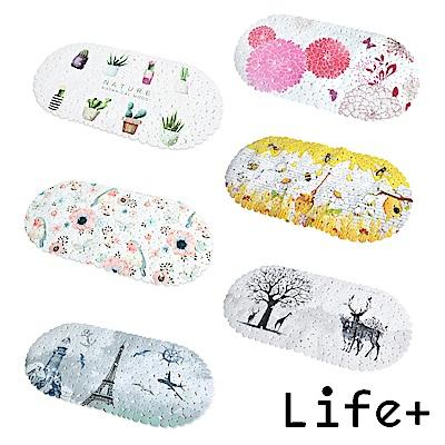 [團購3入組] Life Plus 歐風吸盤式防滑地墊