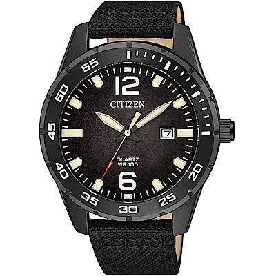 CITIZEN星辰 經典潛水造型百米防水石英錶(BI1045-05E)-黑/42mm