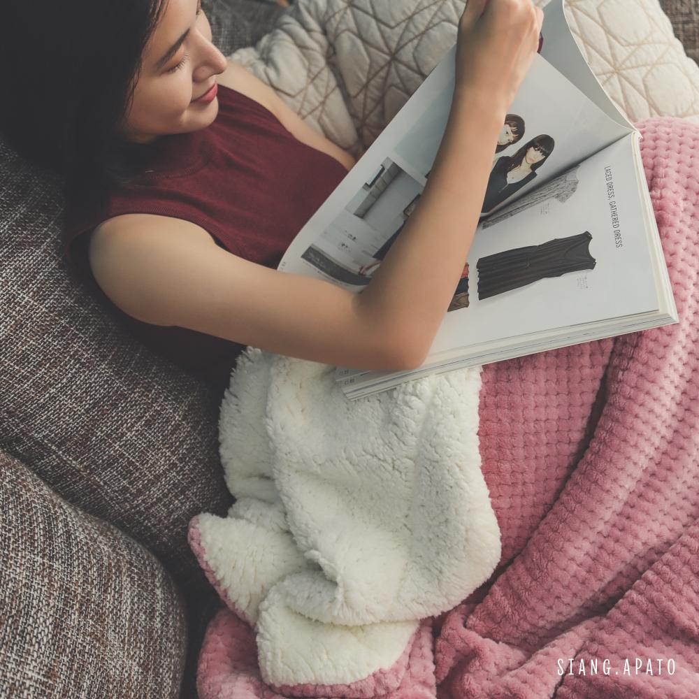 葉月 羊羔絨細纖超柔暖暖毯 (5色可選)
