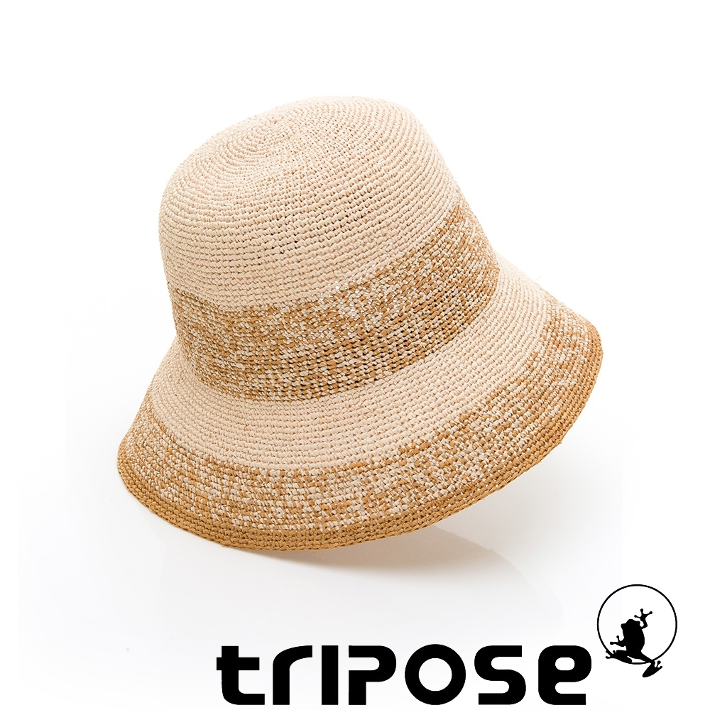 tripose AGNES 100%手工Raffia時尚遮陽草帽-帽簷8cm(黃棕色)