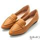 DIANA 2.5cm質感牛皮極簡尖頭低跟便士樂福鞋-漫步雲端焦糖美人-棕 product thumbnail 1