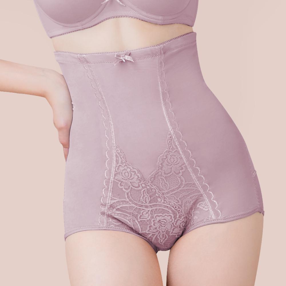 可蘭霓Clany MIT台灣製暖宮高腰遠紅外線M-2XL塑身褲 加大尺碼 (優雅紫)