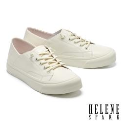 休閒鞋 HELENE SPARK 簡約百搭彈力鞋帶厚底休閒鞋-白