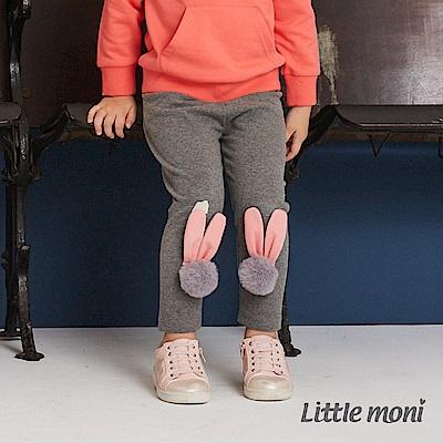 Little moni 立體毛球兔耳造型合身褲(共2色)